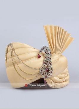 Golden Cream Color Turban