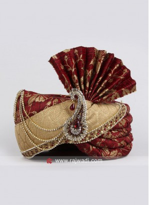 Golden and Red Combination Safa