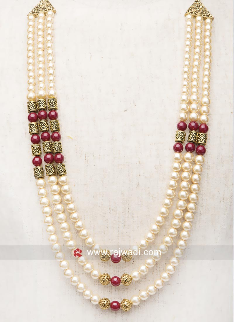 Golden Pearl Work Mala