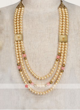 Golden And Pink Marriage Mala