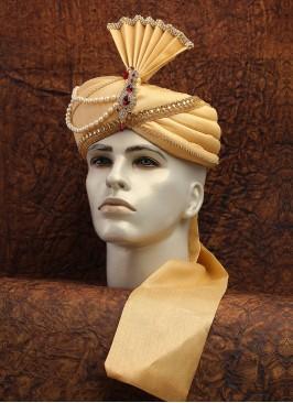 Golden Art Silk Dulha Turban