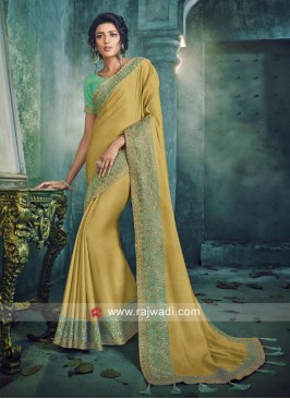 Golden Art Silk Saree