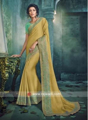 Golden Art Silk Saree