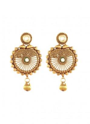 Golden Beads Drop Earrings
