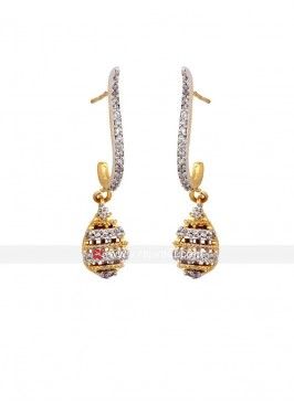 Golden Bling Drop Earrings