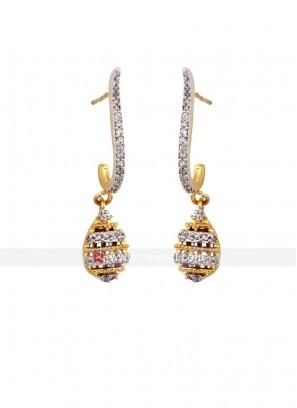 Golden Bling Drop Earrings