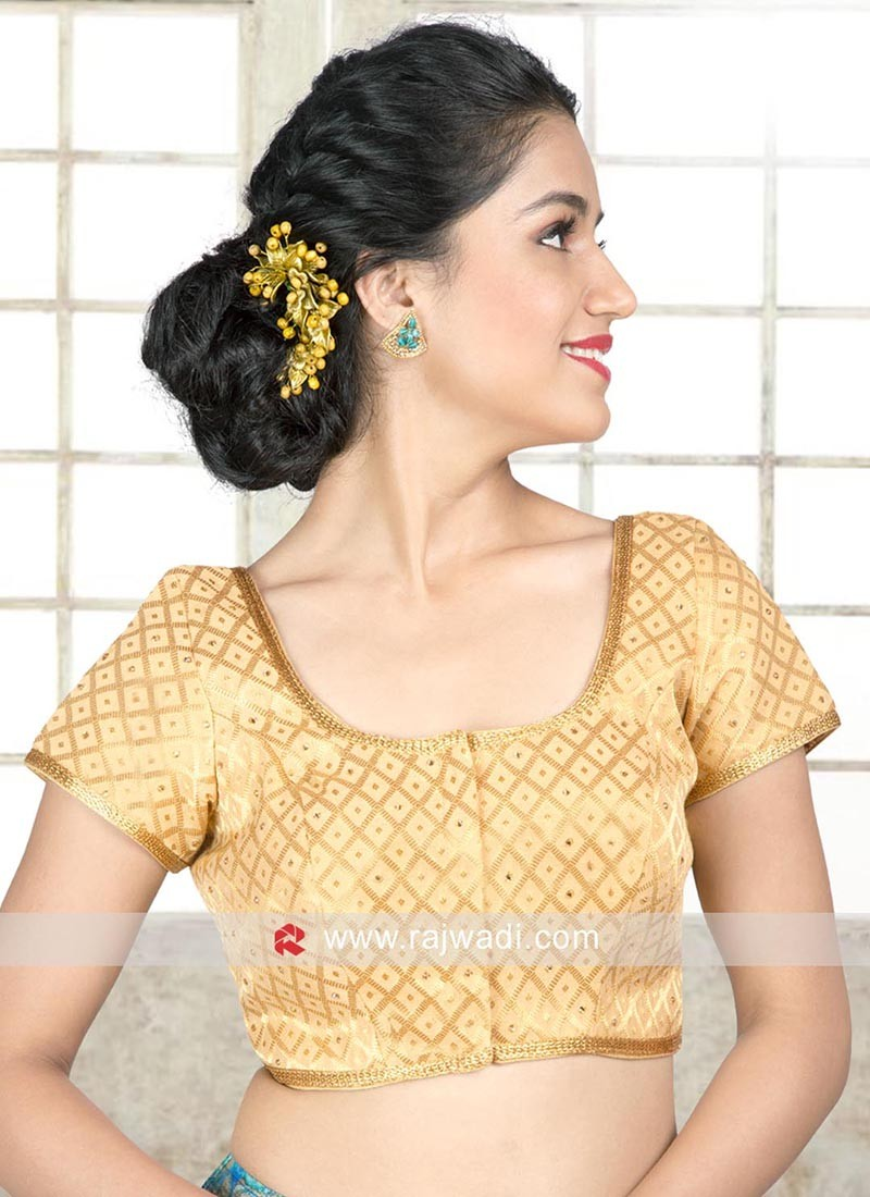 Golden Brocade Ready Blouse