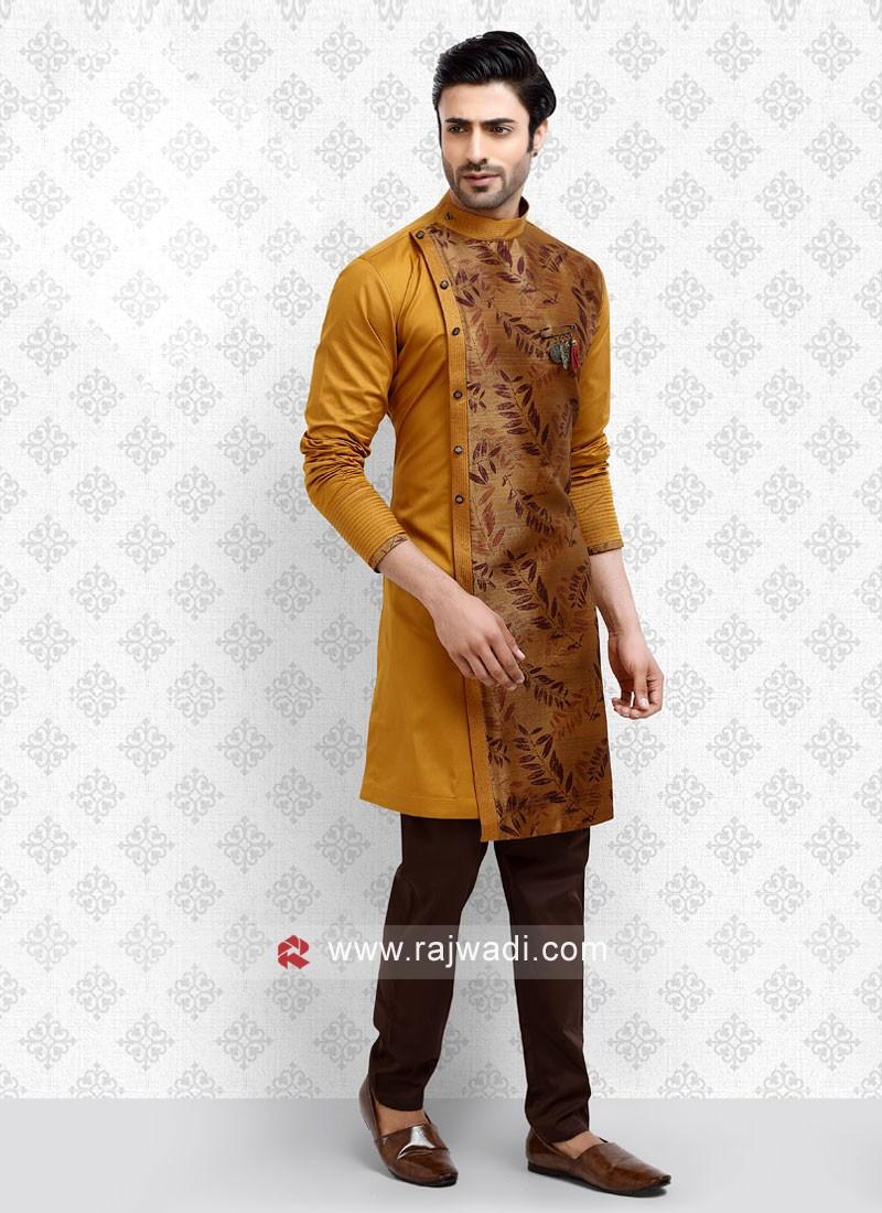 Golden Brown Color Kurta Pajama