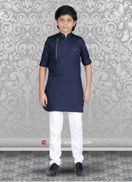 Stylish Navy Color Kurta Set