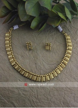 Golden Choker Necklace Set