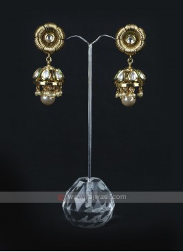 Golden Color Jhumka Earrings