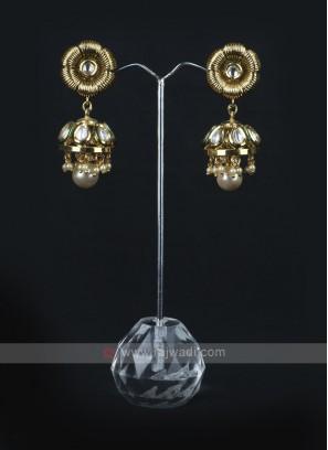 Golden Color Jhumka Earrings