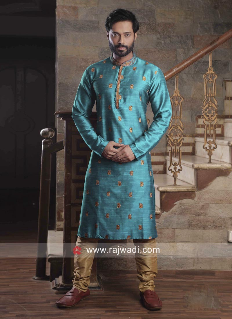 Sky Blue Color Kurta Pajama
