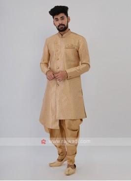 Golden Color Mens Indo-Western