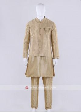 Golden color nehru jacket
