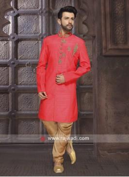 Rani Color Indo Western For Wedding
