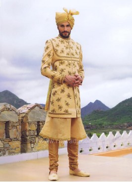 Golden Color Wedding Indo Western