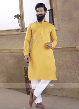 Yellow Color Party wear Pathani Suit