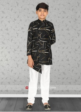 Charming Black Color Kurta Pajama