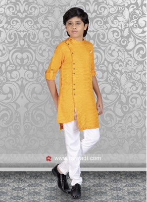 Mustard Yellow Boys Kurta Set