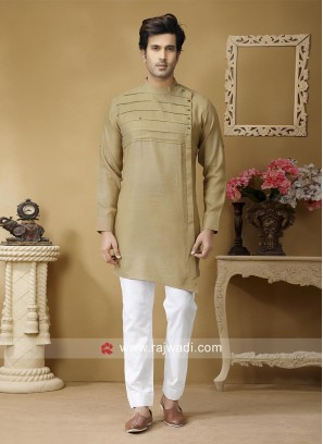 Golden Cream Color Pathani Suit