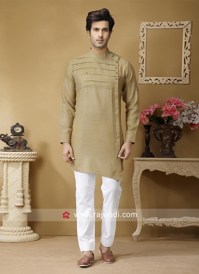 Golden Cream Color Pathani Suit