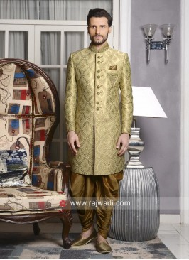 Golden Indo Western For Mens