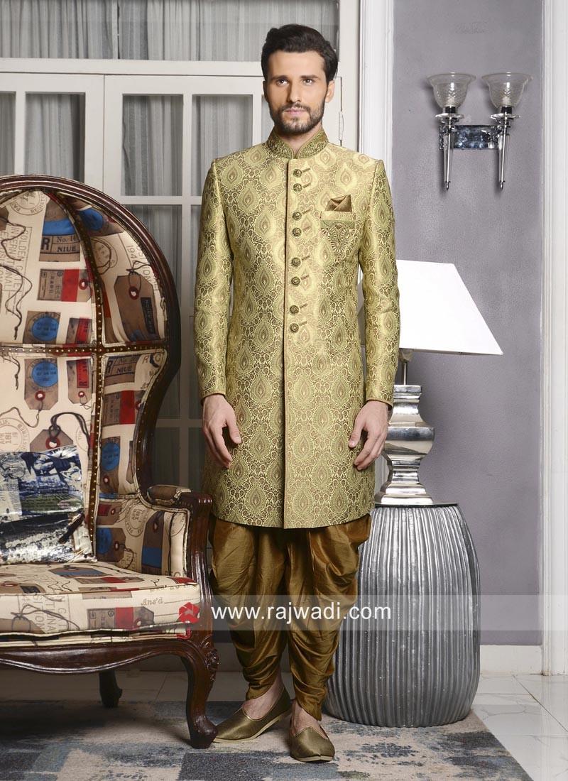 Golden Indo Western For Mens