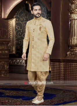Golden Cream Patiala Set