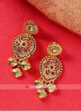 Golden Dangler Earrings