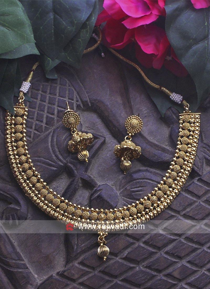 Golden Designer Necklace Set