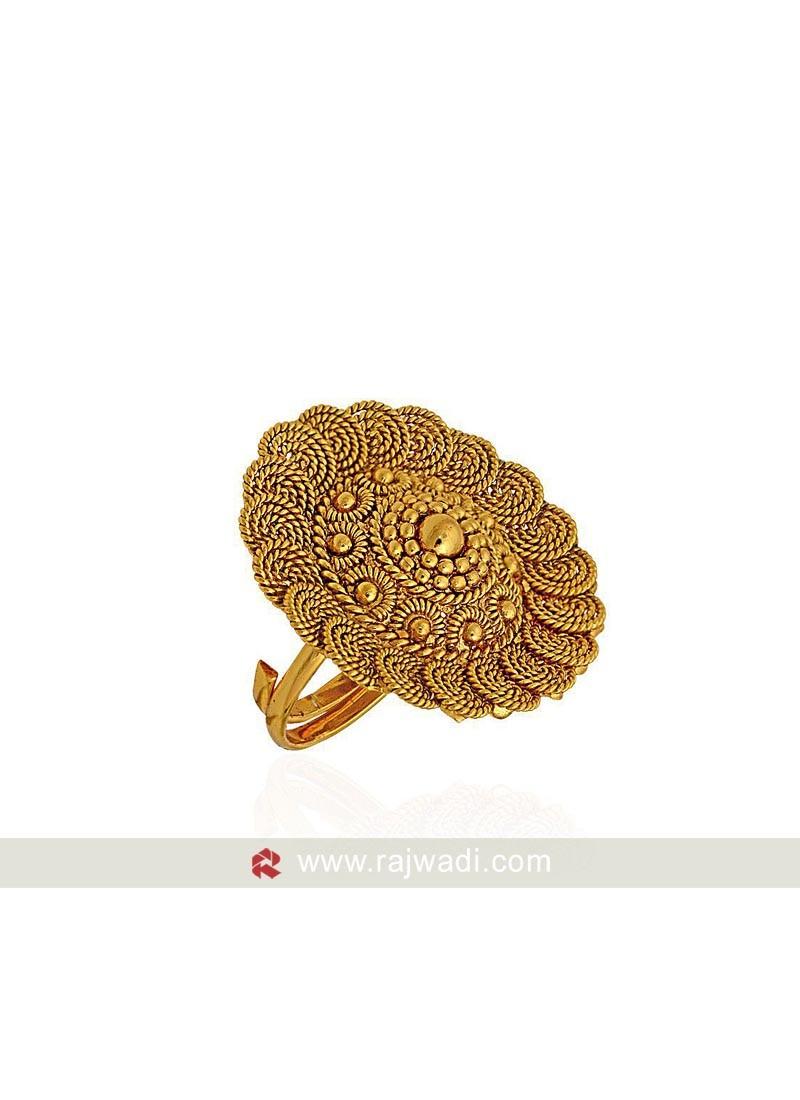 Golden Flower Shaped Ring