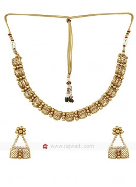 Golden Handcrafted Necklace Set