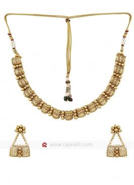 Golden Handcrafted Necklace Set