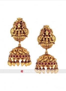 Golden Jhumka Earrings