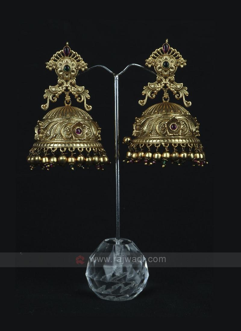 Golden Jhumka Style Earring