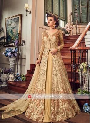 Golden Lehenga Style Salwar Suit