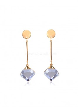 Golden Metal Drop Earring