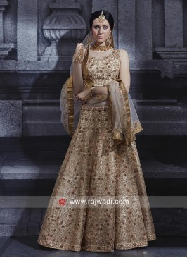 Golden Net Heaavy Choli Suit
