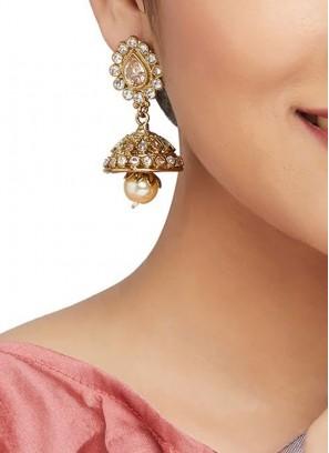 Golden Party Wear Jhumkas