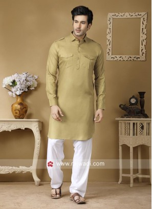 Golden Pathani Set For Party