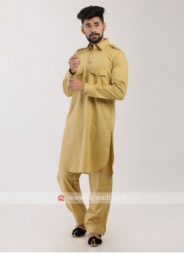 Golden Pathani Suit