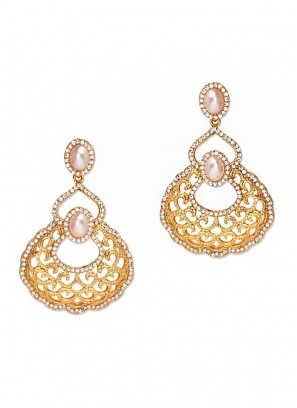 Golden Pearl Earrings for Womens