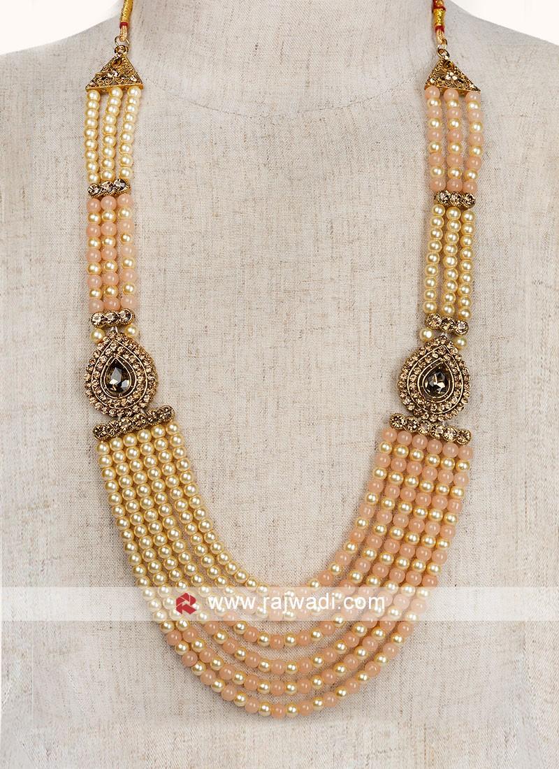 Double Color Pearl Wedding Mala