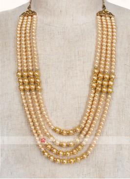 Golden Pearl Work Mala