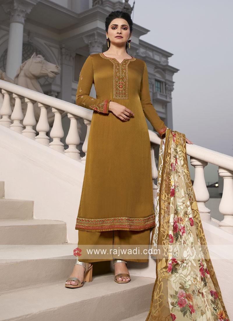 Prachi Desai Silk Palazzo Suits