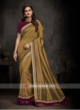 Golden Raw Silk Saree