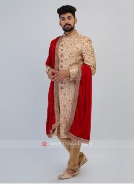 Golden Sherwani