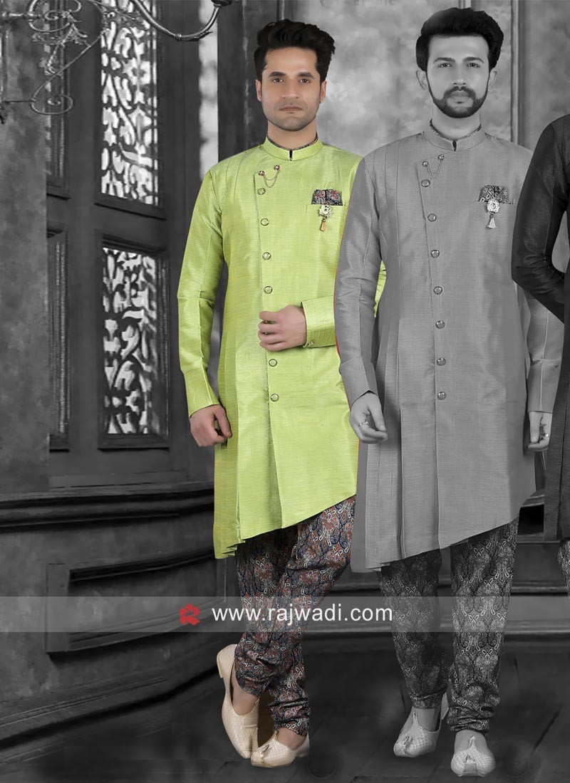 Pista Green Indo Western For Wedding