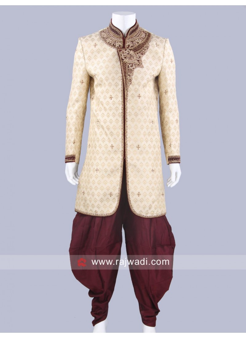 Golden Sherwani For Wedding
